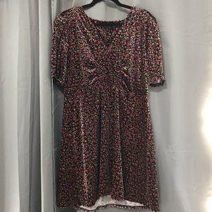 TopShop Mini Velvet Floral Dress